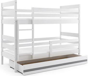 Łóżko piętrowe dla dzieci Eryk 160x80 dziecięce + SZUFLADA + MATERAC