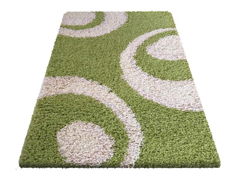 Dywan Shaggy Nowoczesny 02 Zielony Wymiary 80 X 150 Cm Kolor Zielony