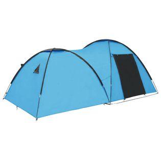 Namiot Turystyczny Typu Igloo, 450X240X190 Cm, 4-Os., Niebieski