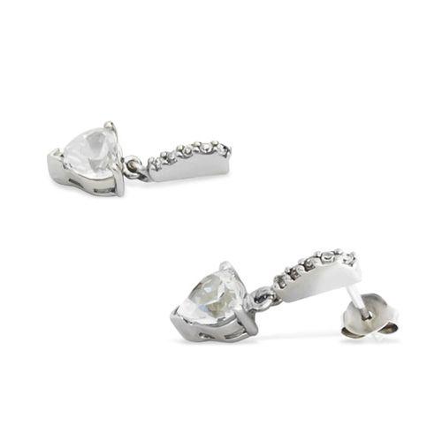 INGRID Komplet srebrnej biżuterii z cyrkoniami serca zdjęcie 2