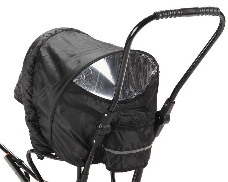 SANKI dla dzieci z budką, śpiworem i mufki, pchacz, podnóżki + kółka zdjęcie 12