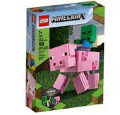 Lego Minecraft BigFig Świnka i mały zombie