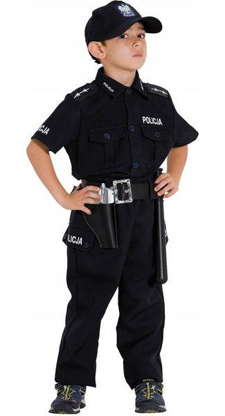 POLICJANT Polski Strój KARNAWAŁOWY 128 Kostium BAL zdjęcie 4