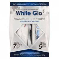 White Glo Zestaw Wybielająca Pasta Do Zębów 100Ml + Wybielający Żel Do Zębów 50Ml +  Nakładka Na Zęby