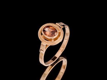 P505 Złoty pierścionek z cyrkonią 333