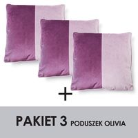 Pakiet olivia kpl.3 poduszek velvet 45x45cm 100% polyester