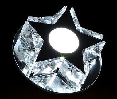 Lampa sufitowa CRYSTAL STAR kryształ PLAFON12cm Kinkiet LED 3W Wobako na Arena.pl