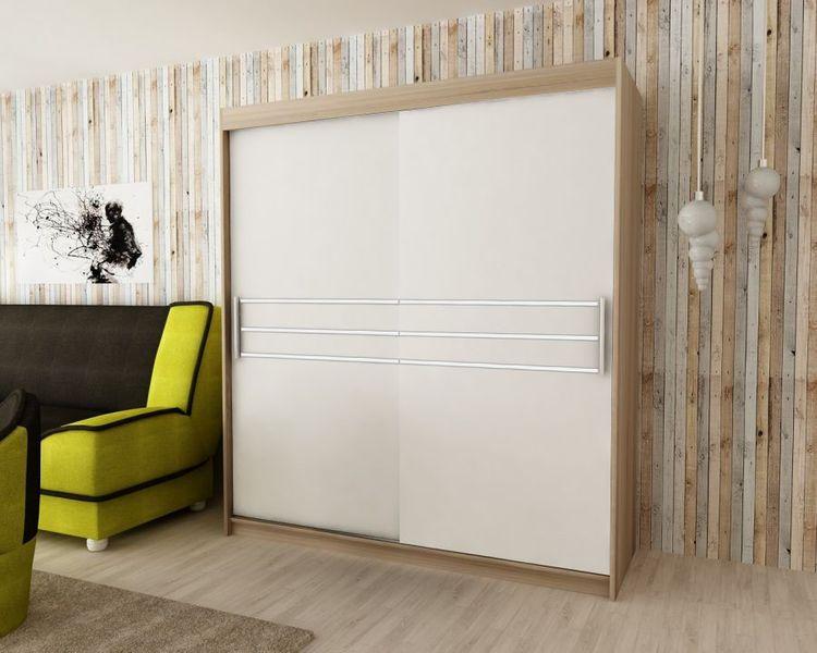 Szafa przesuwna garderoba PASA 200 biała RIBES zdjęcie 6