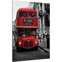 Obraz 70X100 Czerwony Autobus Piętrowy