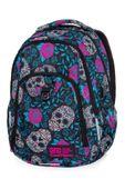 Dwukomorowy plecak szkolny CoolPack Strike L 27L, Skull&Roses B18049
