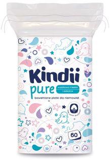 CLEANIC Kindii 60szt - płatki kosmetyczne dla dzieci niemowląt
