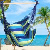 Krzesło brazylijskie wiszące Hamak z poduszkami zdjęcie 6