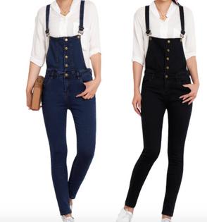 Spodnie Damskie - OGRODNICZKI NA GUZIKI