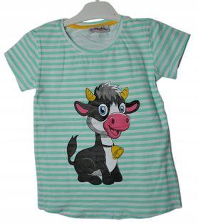 Koszulka dziewczęca, bawełna roz.128