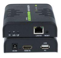 Techly KVM Extender HDMI+USB po skrętce Cat5e/6 do 120m