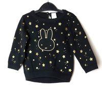 Sweterek czarny brokat Miffy 62 C&A