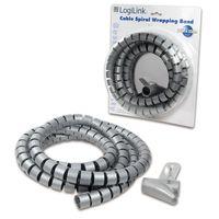 Organizer kabli LogiLink KAB0013 spiralny, 2.5m, srebrny