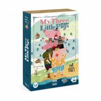 LONDJI Puzzle dla dzieci Trzy Małe Świnki