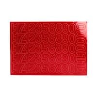 Cyfry samoprzylepne 30mm czerwone