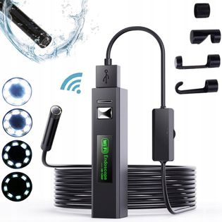 ENDOSKOP KAMERA INSPEKCYJNA WiFi USB HD1200p 8mm