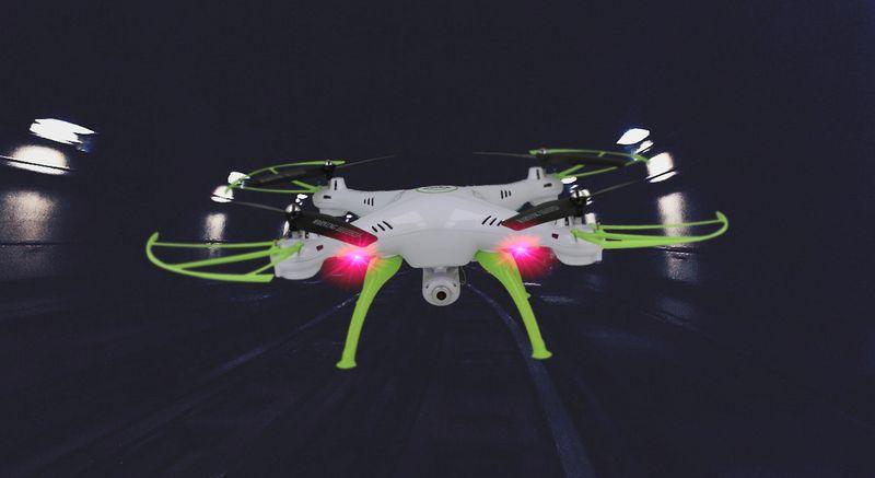 Dron Syma X5HW kamera Wi-Fi funkcja zawisu Gogle VR 3D Biały Y142GB zdjęcie 6