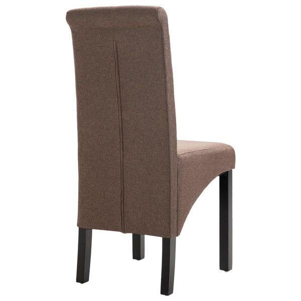 Krzesła Stołowe, 2 Szt., Brązowe, Tapicerowane Tkaniną zdjęcie 6