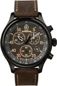 Zegarek męski Timex Expedition T49905 CHRONOGRAF WR100 pasek skórzany