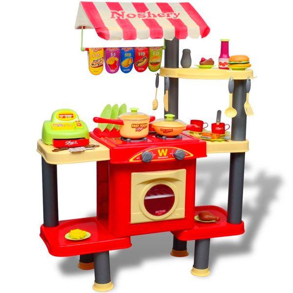 Kuchnia Dla Dzieci Duża Czerwona zdjęcie 1