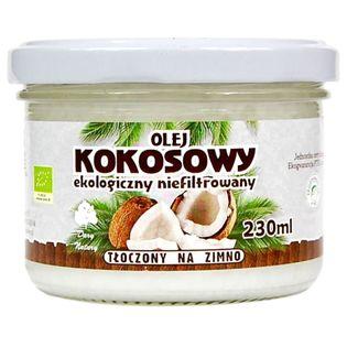 Olej kokosowy EKO, Extra Virgin, nierafinowany, 230ml, Dary Natury