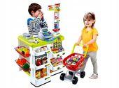 Sklep supermarket STRAGAN kasa dla dzieci + koszyk