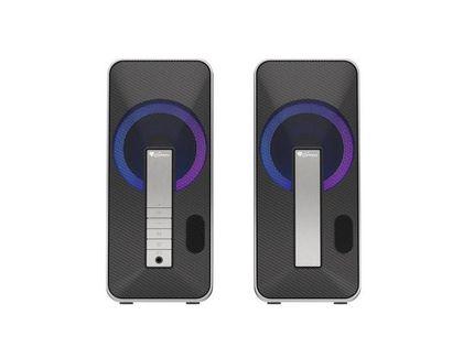 Głośniki Genesis Helium 100BT RGB 2.0 Bluetooth 10W RMS czarno-srebrne
