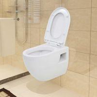 Toaleta Wisząca, Ceramiczna, Biała