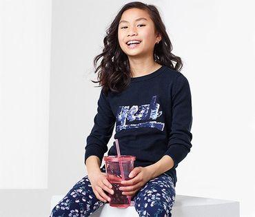 TCHIBO Sweter z cekinami 110-116 cm, 5-6 lat 5-6 lat
