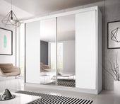 Szafa przesuwna BILL 13 233 cm z lustrem + półki