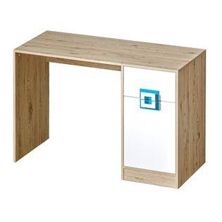NICO meble _10 biurko dąb jasny / biały dąb jasny / biały turkus