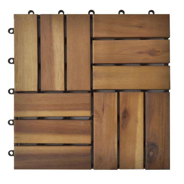 Płytki Tarasowe Drewniane 30x30 Akacja 20 Sztuk W Zestawie