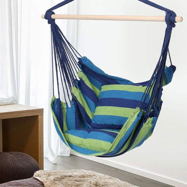 Krzesło brazylijskie wiszące Hamak z poduszkami zdjęcie 3