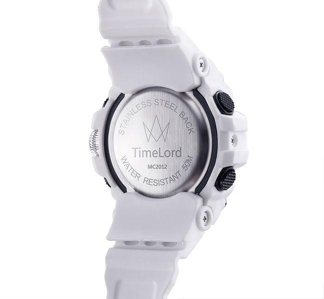 bf6c249f4dfce9 Najmodniejszy Zegarek Męski Elektroniczny Biały S-SHOCK Dwa Czasy zdjęcie 2