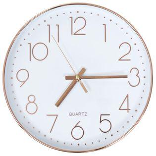 Zegar Ścienny, 30 Cm, Różowe Złoto