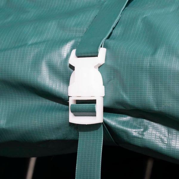 Przenośny namiot dla bydła, PVC, 3,3 x 12,8 m, ciemnozielony zdjęcie 3