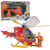 SIMBA STRAŻAK SAM Helikopter Ratowniczy Wallaby + Figurka