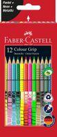 Kredki FABER-CASTELL Grip 12 kol Pastel Neon Metal