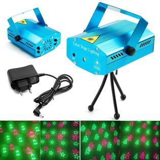 Świąteczny projektor laserowy 3D mini laser stage lighting V4