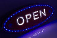 tablica OPEN led szyld panel neon reklama otwarte neon diodowa