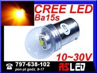 żarówka LED P21W ba15s Cree X-PE 12v 24v pomarańczowa kierunki Jakość