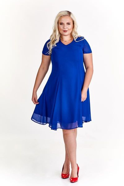2509c9f943 Elegancka rozkloszowana sukienka R  46