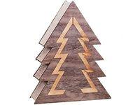 Ozdoba drewniana choinka Podświetlenie LED 1j 35cm choinka LED 1j