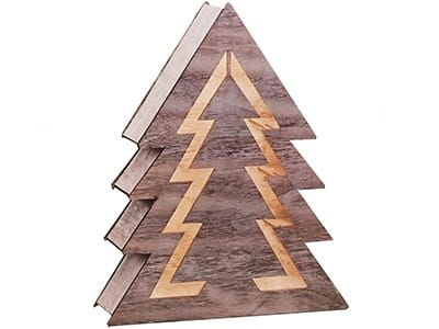 Ozdoba drewniana choinka LED 1j 35cm zdjęcie 1