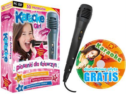 Zestaw Karaoke Girl, DVD + Mikrofon + GRATIS