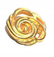 Guziki metalowe 29x26 mm kwiat róża 1 szt.